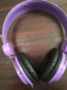 paarse koptelefoon