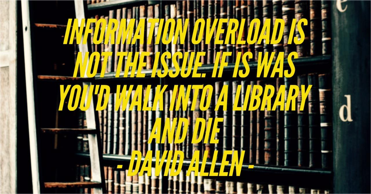 We verzuipen in de hoeveelheid informatie