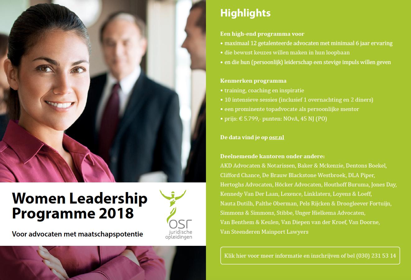 Women Leadership Programme 2018